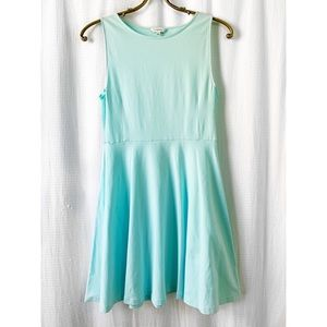 Talula Kanda light teal fit and flare mini dress
